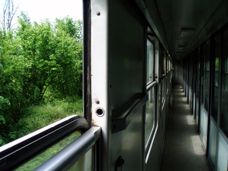 Pasillo del tren Zagreb-Sarajevo