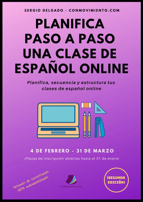 Curso planifica paso a paso una clase de español online