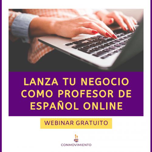 webinar lanza tu negocio como profesor de español online