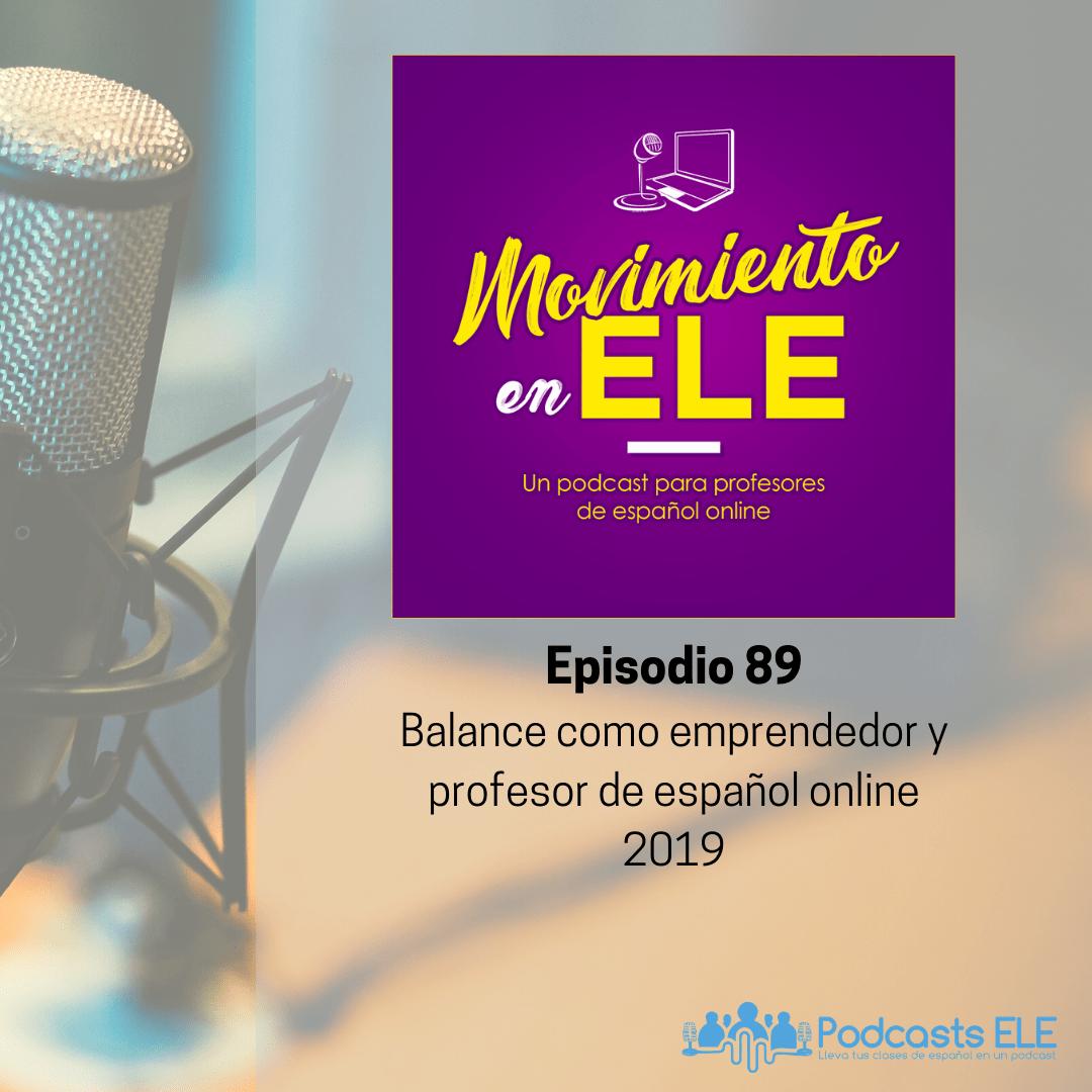 balance como emprendedor y profesor de español online 2019