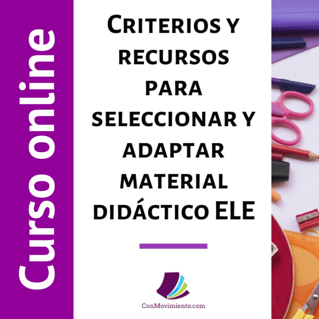 criterios y recursos para adaptar material curso online