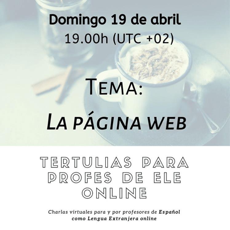 pagina web tertulia profesores de español online