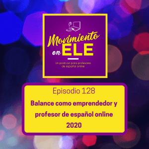 balance emprendedor y profesor de español 2020